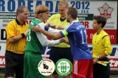 2017-09-24 Kreisoberliga SV 1922 Radibor in blau - Hoyerswerdaer FC in grün 0:0 Foto: Werner Müller