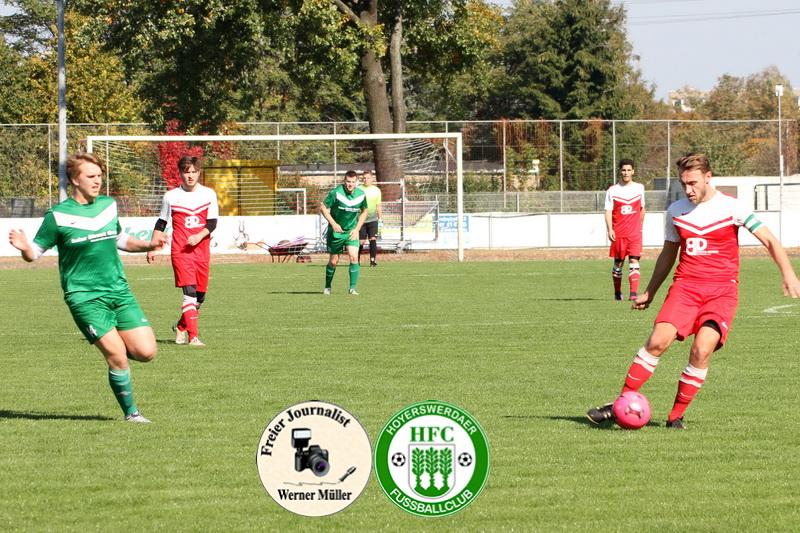 2017-09-30 Hoyerswerdaer FC II in rot - Königswarthaer SV in grün 2:1 (0:1) Foto: Werner Müller