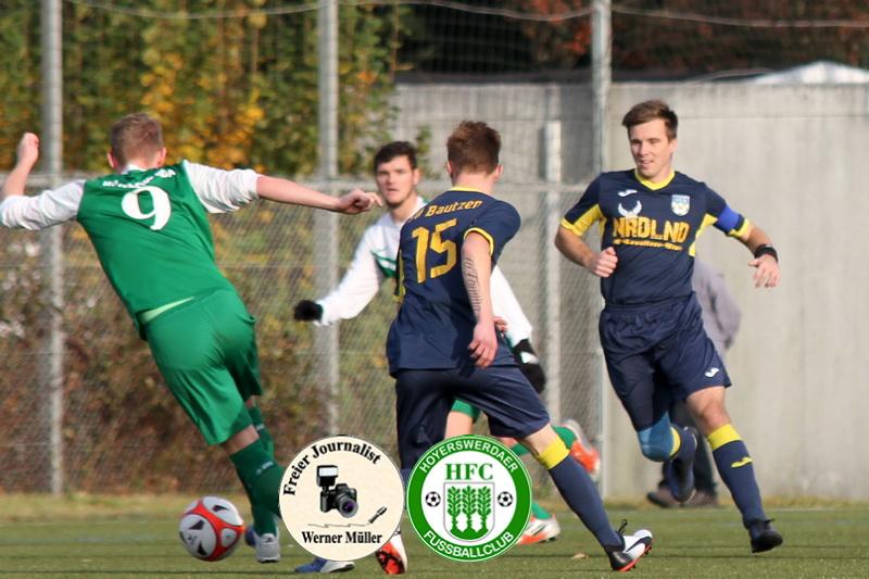 2017-11-04 Hoyerswerdaer FC I in grün - SV Bautzen in blau 4:0 Foto: Werner Müller