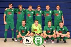 2018-01-07 S- mobil Cup des SV Einheit Kamenz Spiel LSV Neustadt /Spree in blau gegen Hoyerswerdaer FC in grün 0:2 Foto: Werner Müller