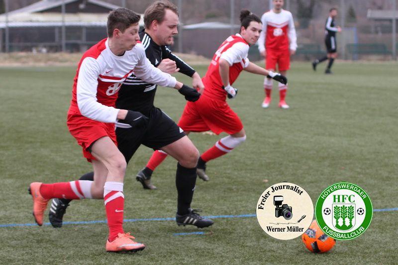 2018-02-10 Hoyerswerdaer FC in rot - SV Grün Weiß Hochkirch 3:0 Foto:Werner Müller