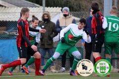 2018-02-24 Kreisoberliga  Hoyerswerdaer FC I in grün weiß - LSV Bergen 1990 in rot schwarz 2:1 (2:0) Foto: Werner Müller