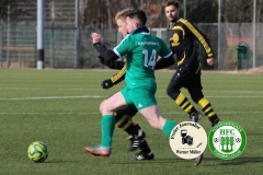 2018-02-24 Kreisoberliga  Hoyerswerdaer FC II  in grün - SV Laubusch in schwarz gelb 2:2 (1:1) Foto: Werner Müller