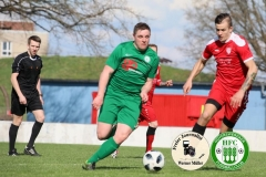 2018-04-14   Hoyerswerdaer FC in grün -  SG Motor Cunewalde in rot  2:0 (1:0) Foto: Werner Müller