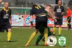 2018-04-21 SC 1911 Großröhrsdorf in schwarz -  Hoyerswerda FC in grün  1:1  Foto: Werner Müller