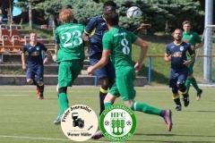 2018-05-12  Fußball Kreisoberliga  SV Bautzen in dunkelblau  - Hoyerswedawer FC in grün   Foto: Werner Müller