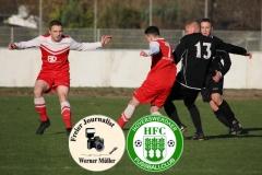 2018-11-17  Kreisoberliga  Hoyerserdaer FC I in rot   - SG Großnaundorf in schwarz 3:1  Foto: Werner Müller