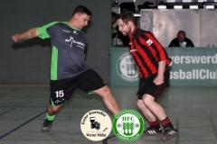 2019-01-19  Altliga Turnier HFC HFC Einheit in graiu-  grün  - SV Zeißig/Knappensee in rot schwraz  2:0  Foto: Werner Müller