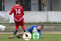 2019-05-04  Hoyersweerdaer FC II in grün weiß _  SG Crostwitz II in rot  5:5 Foto: Werner Müller
