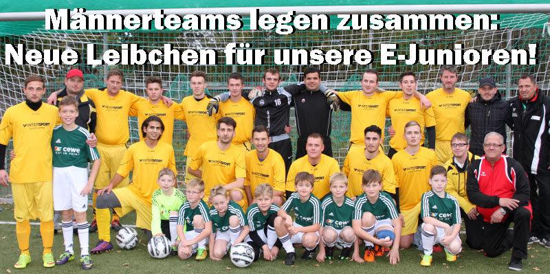 Männerteams legen zusammen: Neue Leibchen für die E-Junioren