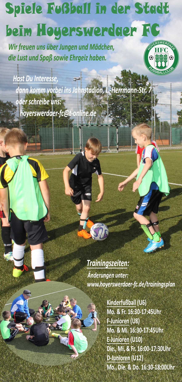 Trainingszeiten HFC